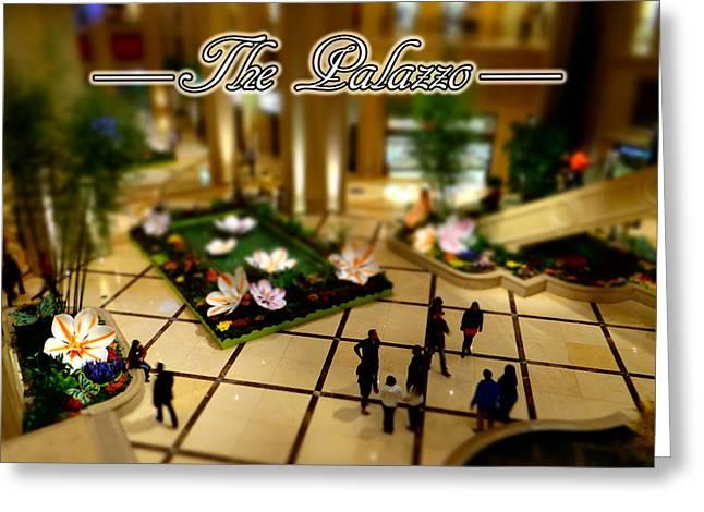 Mini Palazzo Greeting Card by Michael Wilcox