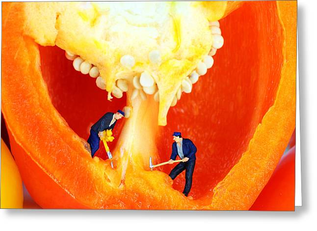 Mining In Colorful Peppers II Greeting Card by Paul Ge