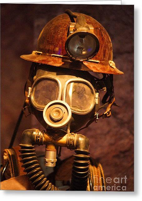 Mining Man Greeting Card
