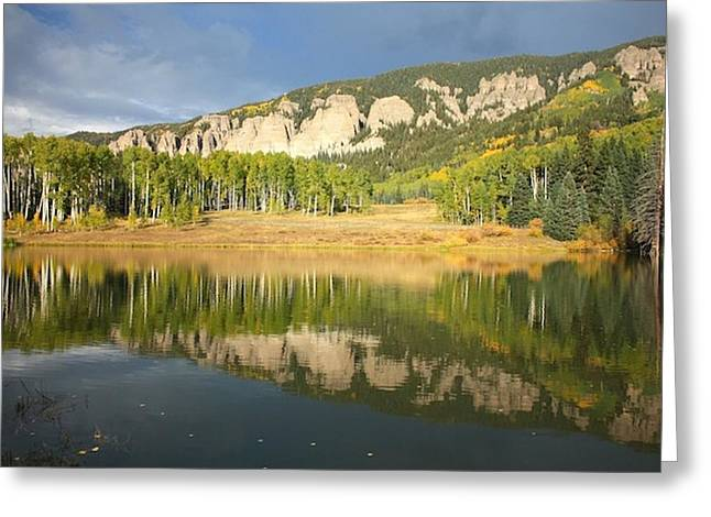 Mirror Lake  Greeting Card by Drusilla Montemayor