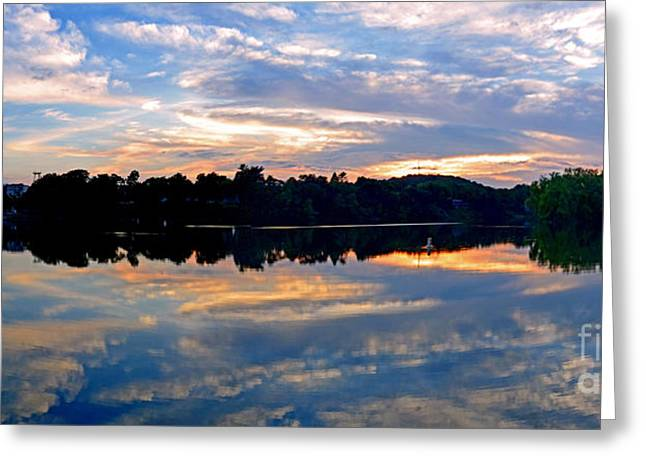 Mirror Mirror On The Water Greeting Card by Sue Stefanowicz