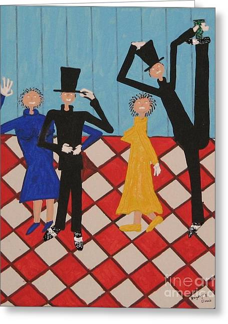 Misbehaving Greeting Card by Gregory Davis