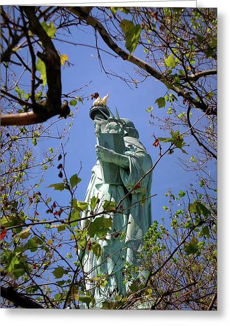 Greeting Card featuring the photograph Miss Liberty by Paul Mashburn
