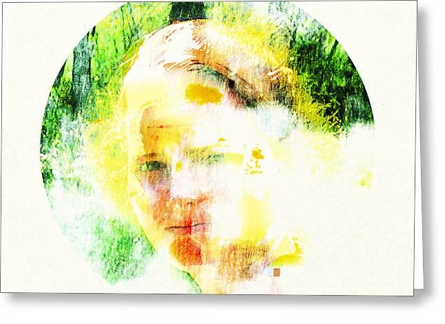 Miss. Sunshine 2 Greeting Card by Greta Thorsdottir