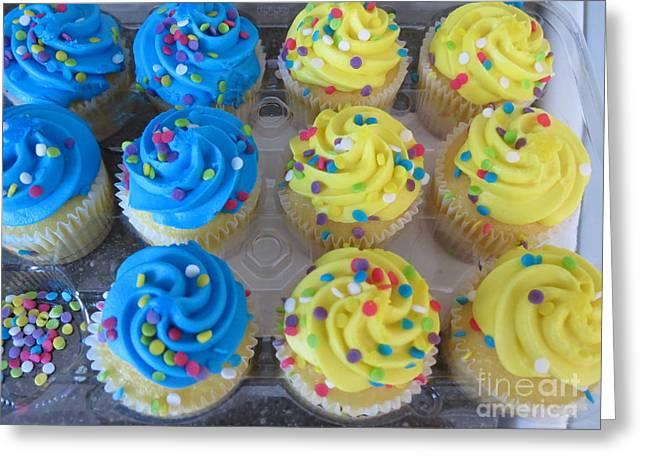 Missing Cupcake Greeting Card by Vijay Sharon Govender