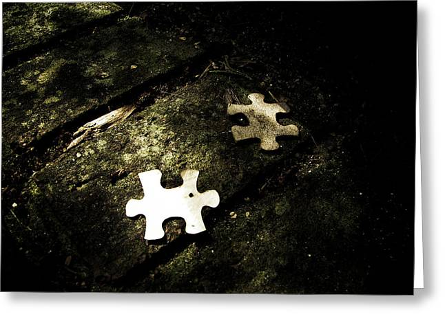 Missing Pieces Greeting Card by Jessica Brawley
