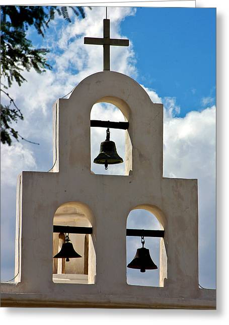 Mission Bells At San Xavier Mission Greeting Card