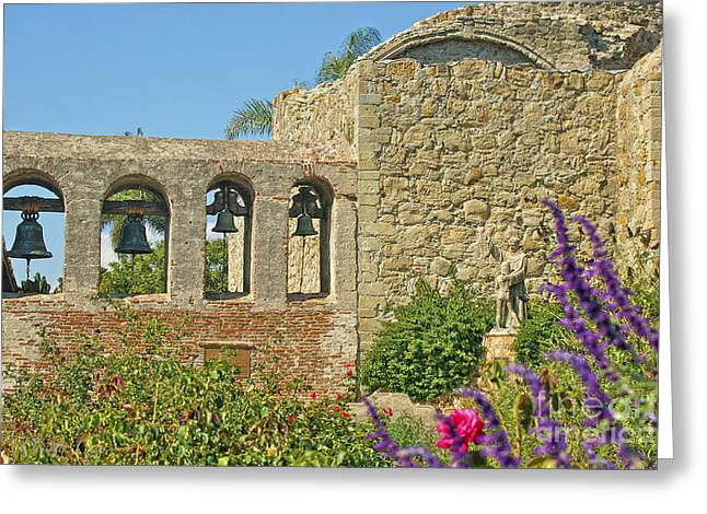 Mission Bells Campanario Greeting Card by Diana Cox