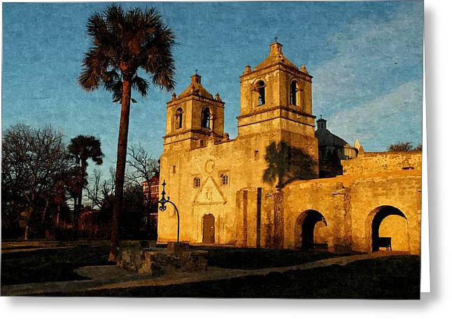 Mission Concepcion In Oil Greeting Card