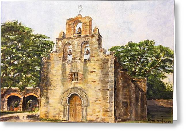 Mission Espada Greeting Card by Maureen Pisano