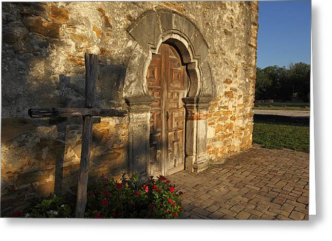 Greeting Card featuring the photograph Mission Espada by Susan Rovira