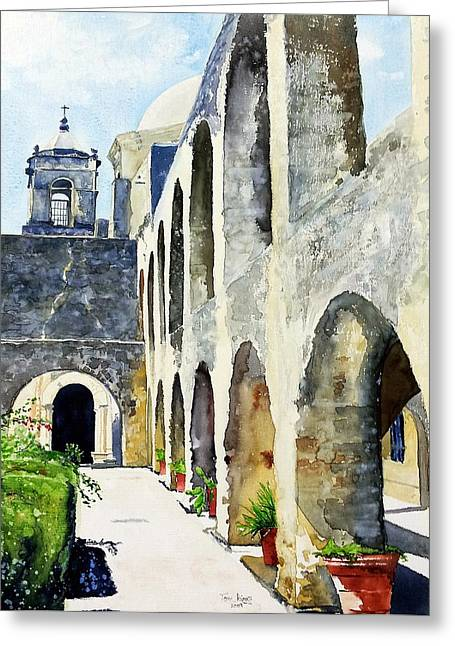 Mission San Jose Greeting Card by Tom Riggs