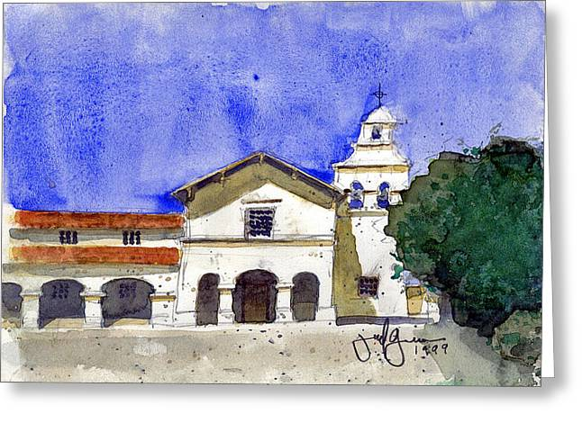 Mission San Juan Bautista Greeting Card by Jerry Grissom