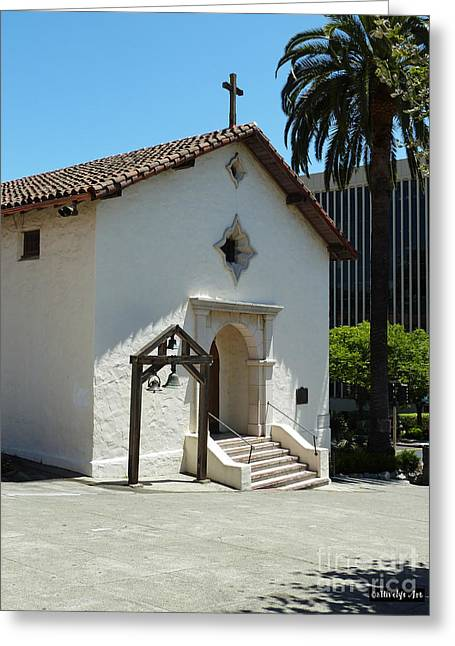 Mission San Rafael Arcangel Chapel Greeting Card by Methune Hively