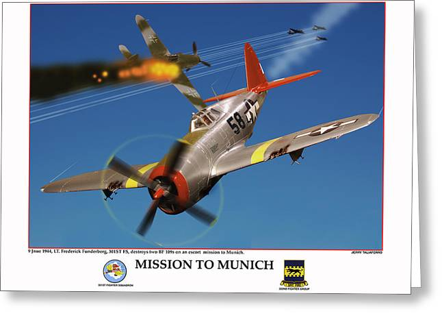 Mission To Munich Greeting Card by Jerry Taliaferro