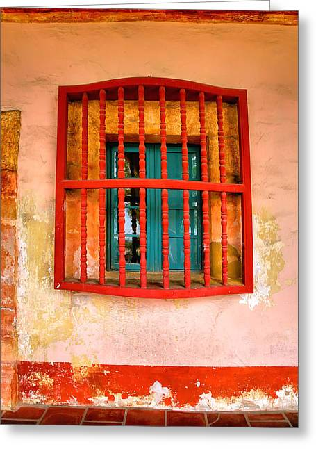 Mission Window Greeting Card by Steven Ainsworth
