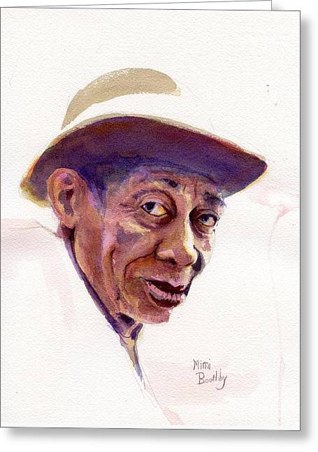 Mississippi John Hurt Greeting Card by Mimi Boothby