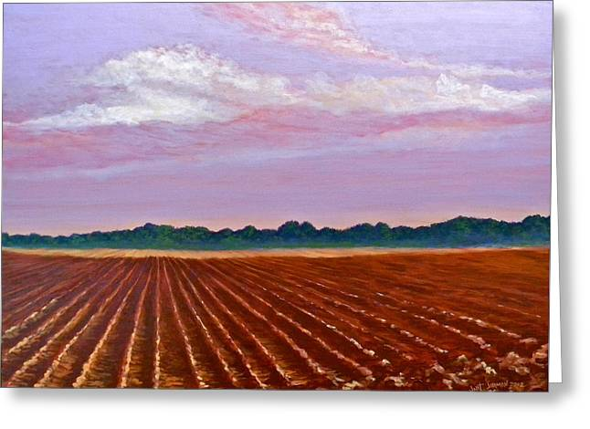 Mississippi Land And Sky Greeting Card