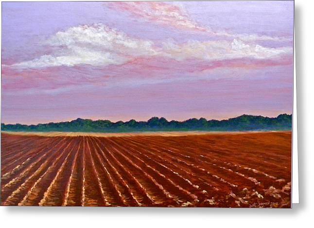 Mississippi Land And Sky Greeting Card by Jeanette Jarmon