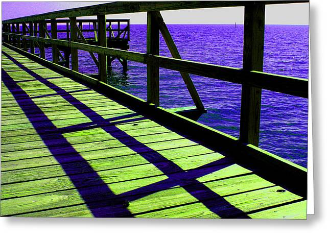Mississippi  Pier - Ver. 7 Greeting Card by William Meemken