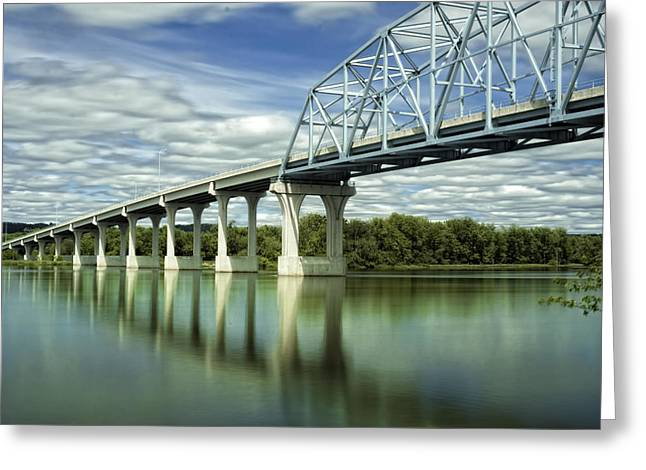 Greeting Card featuring the photograph Mississippi River At Wabasha Minnesota by Tom Gort
