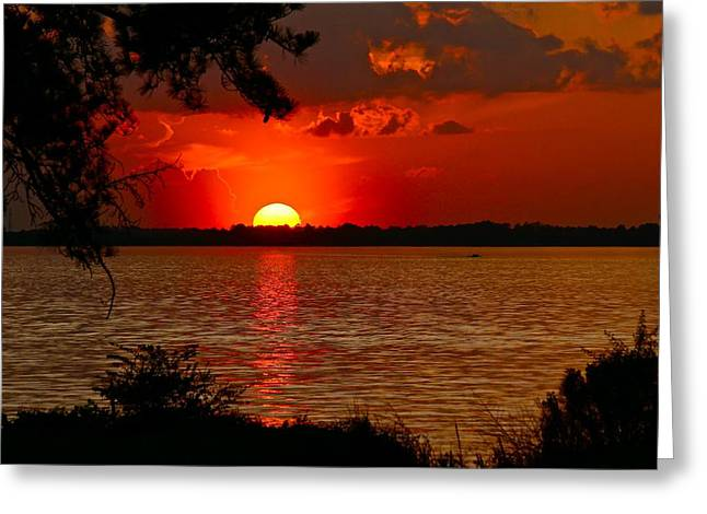Mississippi Sunset 3 Greeting Card
