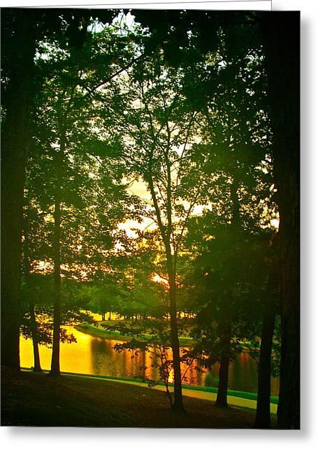 Mississippi Sunset Greeting Card