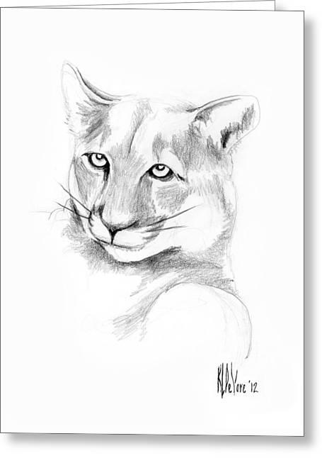 Missouri Mountain Lion  Greeting Card by Kip DeVore