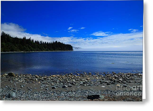 Mist On The Sea At Jordan River Greeting Card