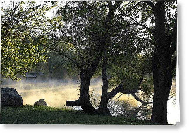 Mist On The Water Greeting Card