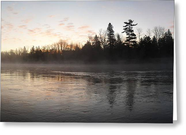 Mist Over The Mississippi Greeting Card
