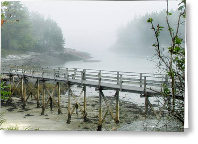 Misty Bridge Greeting Card