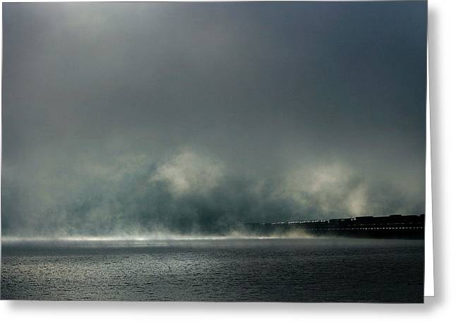 Misty Crossing-2 Greeting Card by Marie-Dominique Verdier