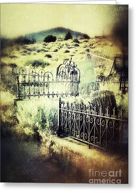 Misty Graves In The Hills Greeting Card