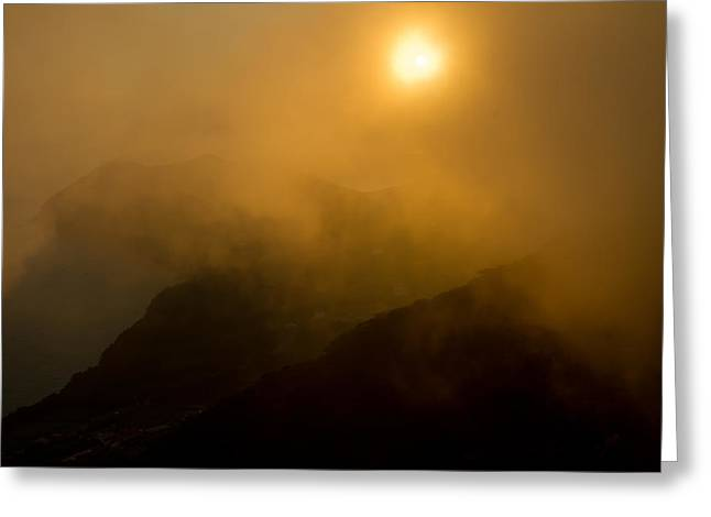 Misty Hongpo Sunset South Korea Greeting Card by Gabor Pozsgai