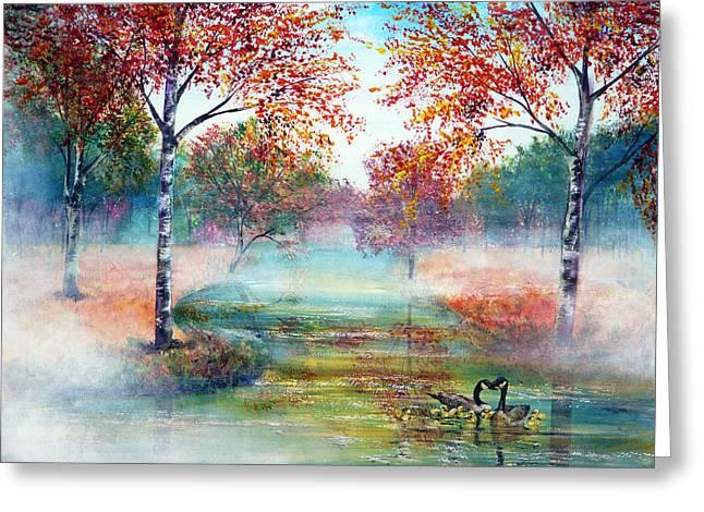 Misty Morning Greeting Card by Ann Marie Bone