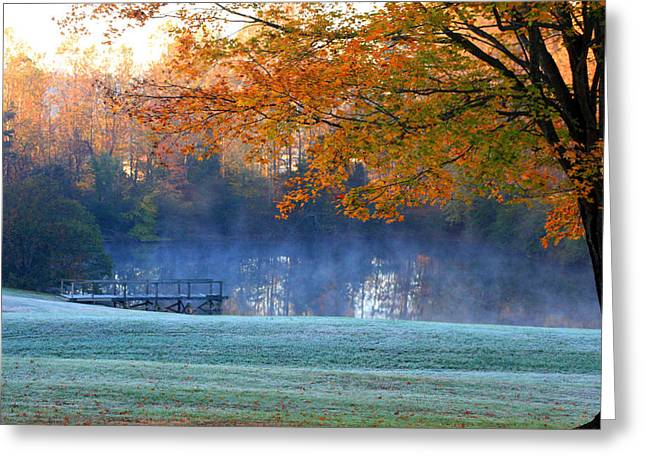 Misty Morning At The Lake Greeting Card
