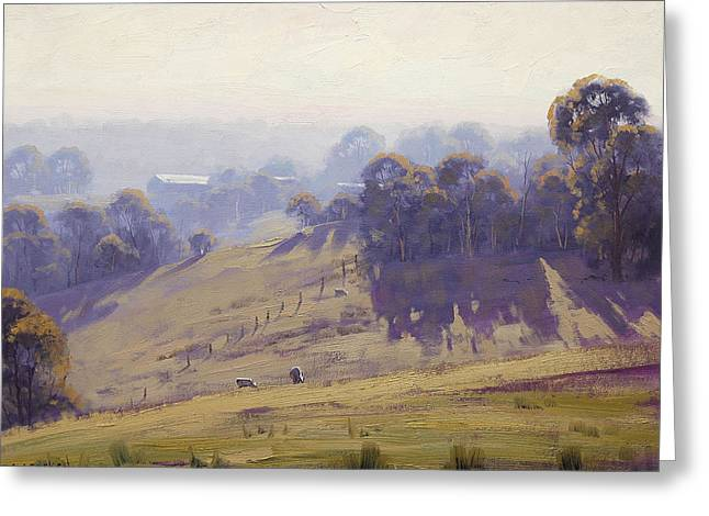 Misty Morning Cottles Bridge Greeting Card by Graham Gercken