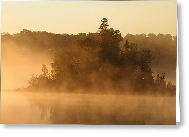 Misty Morning Greeting Card by George Ramondo