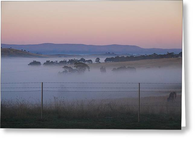 Misty Morning In The Country 1 Greeting Card