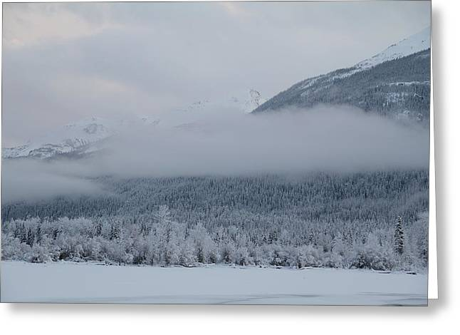 Misty Mountain Greeting Card by Kim French