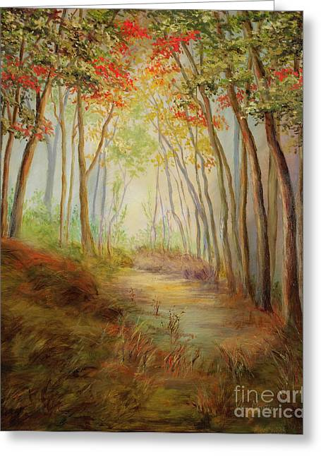 Misty Path Greeting Card