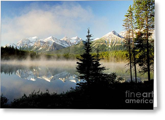 Misty Reflections Greeting Card by Frank Townsley
