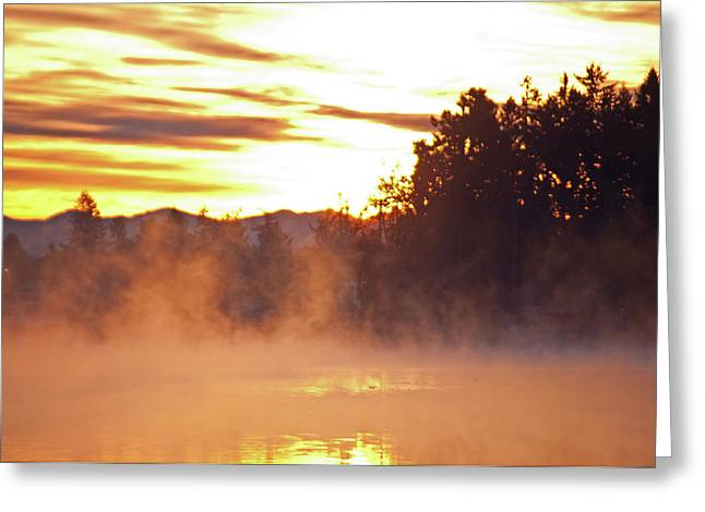 Misty Sunrise Greeting Card by Tikvah's Hope