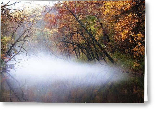Misty Wissahickon Creek Greeting Card by Bill Cannon