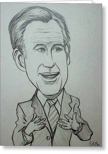 Mitt Greeting Card by Pete Maier