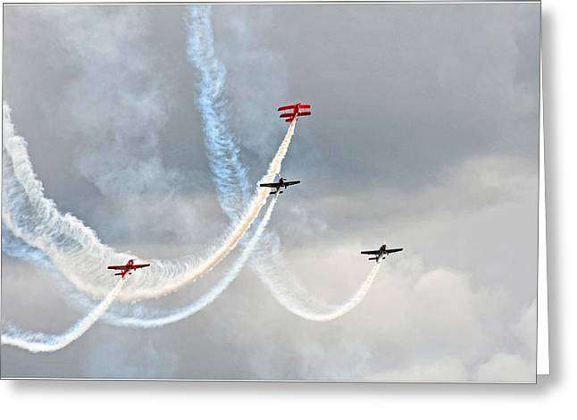 Mixed Aerobatics Greeting Card