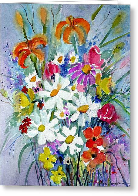 Mixed Floral  Greeting Card by Maurie Harrington