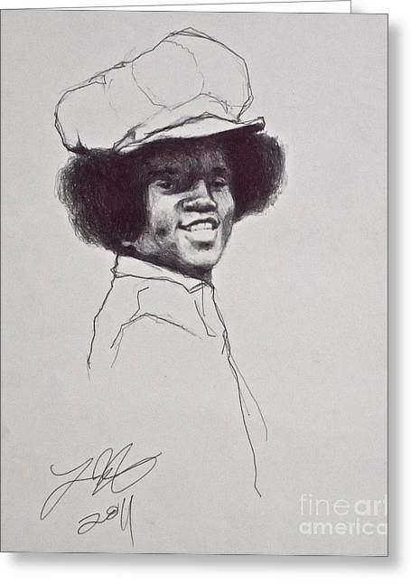 Mj The Early Years Greeting Card