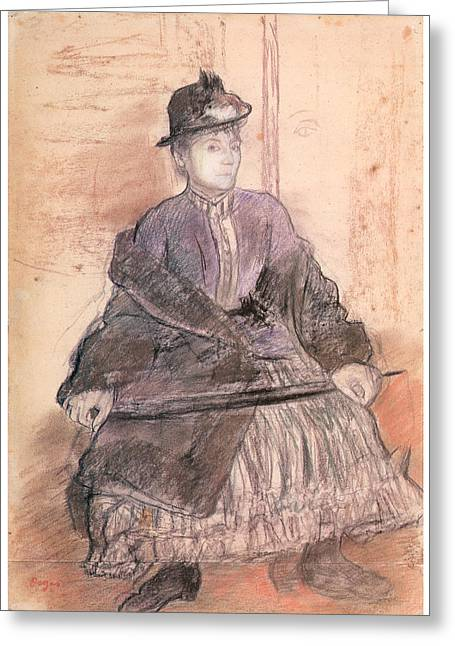 Mlls Sanlaville Greeting Card by Edgar Degas